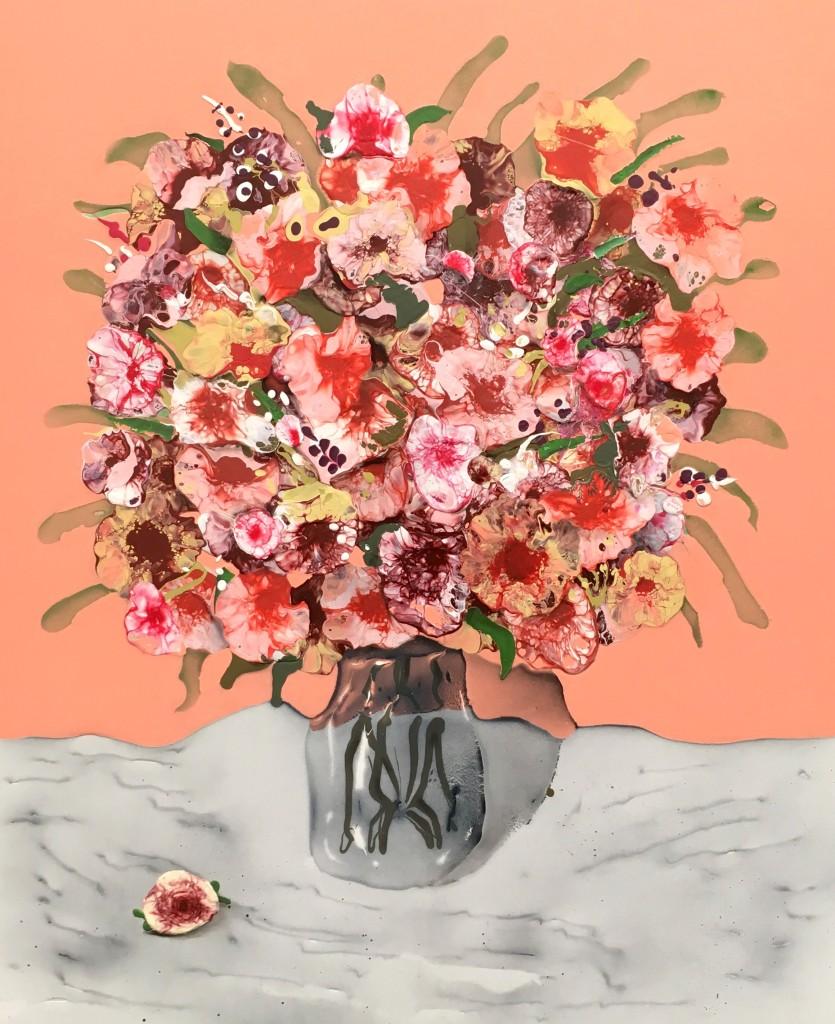 "Pink Bouquet, 35"" x 40"" 2016"