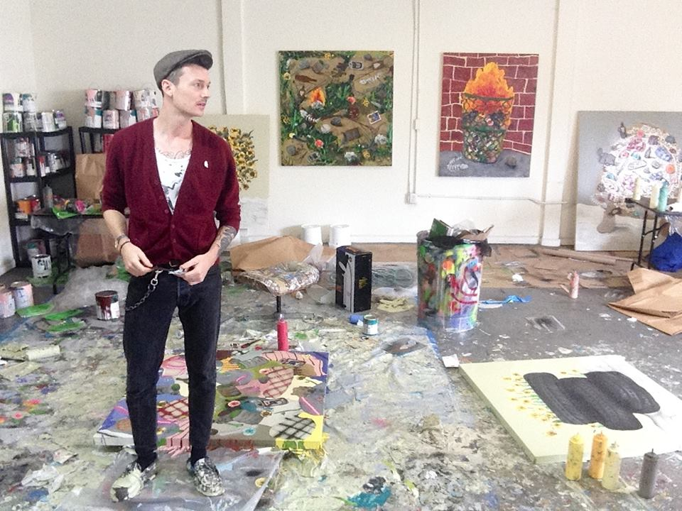 Mark Posey in his Los Angeles Studio - 2015